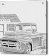 1956 Ford Pickup Truck Art Print Acrylic Print
