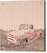 1956 Ford S120 International Truck Acrylic Print