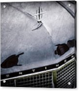 1956 Lincoln Continental Mark II Hess And Eisenhardt Convertible Grille Emblem - Hood Ornament -0126 Acrylic Print