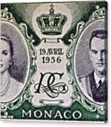 1956 Princess Grace Of Monaco Stamp II Acrylic Print