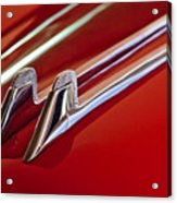 1957 Cadillac Eldorado Biarritz Hood Ornament Acrylic Print
