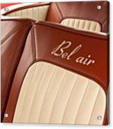 1957 Chevrolet Bel Air Seats Acrylic Print