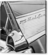 1957 Chevrolet Bel Air Tail Light Emblem -0140bw Acrylic Print