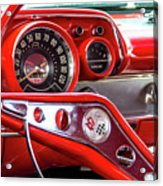 1957 Chevy Bel Air Stering Wheel  Acrylic Print