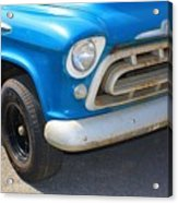 1957 Chevy - Chevrolet Pickup Grille And Logos Acrylic Print
