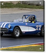1957 Chevy Corvette At Road America Acrylic Print