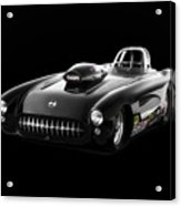 1957 Corvette Drag Car Acrylic Print