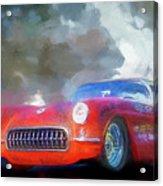 1957 Corvette Hot Rod Acrylic Print
