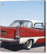 1957 De Soto Car Nostalgic Rustic Americana Antique Car Painting Red  Acrylic Print