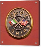 1957 Dual Ghia Convertible Coupe Emblem Acrylic Print