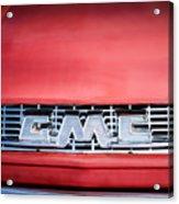 1957 Gmc Pickup Truck Grille Emblem -0329c1 Acrylic Print