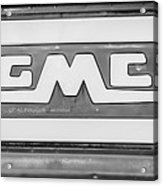 1957 Gmc Pickup Truck Tail Gate Emblem -0272bw2 Acrylic Print