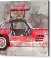 1957 Mercedes Gullwing Acrylic Print
