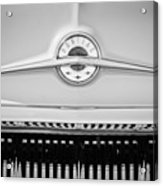 1957 Pontiac Safari Emblem -0737bw Acrylic Print