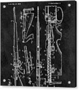 1957 Rifle Patent Illustration Acrylic Print