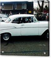 1957 White Chevy Acrylic Print