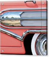 1958 Buick Side Chrome Bullet Acrylic Print by David Kyte