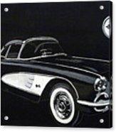1958 Chev Corvette Acrylic Print