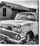 1958 Chevy Del Ray In Black And White Acrylic Print