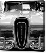 1958 Edsel Pacer Black And White Acrylic Print