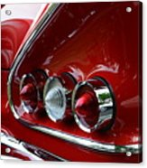 1958 Impala Tail Lights Acrylic Print