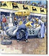 1958 Targa Florio Porsche 718 Rsk Behra Scarlatti 2 Place Acrylic Print