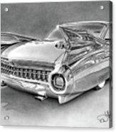 1959 Cadillac Drawing Acrylic Print