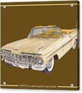 1959 Chevrolet Impala Convertible Acrylic Print