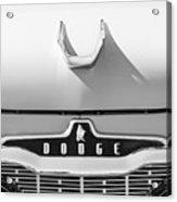 1959 Dodge Coronet Emblem - Hood Ornament -0903bw Acrylic Print