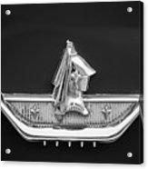 1959 Dodge Custom Royal Super D 500 Emblem -0230bw Acrylic Print
