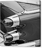 1959 Dodge Custom Royal Super D 500 Taillight -0233bw Acrylic Print