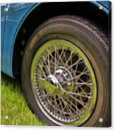1959 Jaguar X K 150s Wire Wheel Acrylic Print