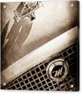1959 Nash Metropolitan 1500 Convertible Hood Ornament - Grille Emblem -0180s Acrylic Print