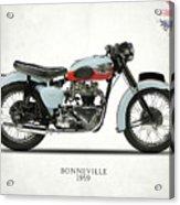 1959 T120 Bonneville Acrylic Print