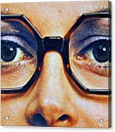 1960 70 Stylish Female Glasses Advertisement 4 Acrylic Print