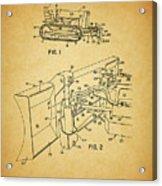 1960 Bulldozer Patent Acrylic Print
