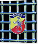 1960 Fiat Lusso Emblem Acrylic Print by Jill Reger
