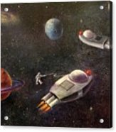 1960s Outer Space Adventure Acrylic Print