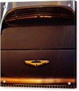 1961 Aston Martin Db4 Coupe Emblem Acrylic Print
