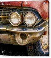 1961 Cadillac Headlight Acrylic Print