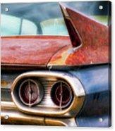 1961 Cadillac Tail Light And Fin Acrylic Print