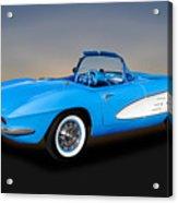 1961 Chevrolet C1 Corvette  -  61chvetcv350 Acrylic Print