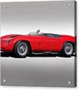 1961 Ferrari Tr61 Corsa Rosso Acrylic Print