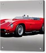 1961 Ferrari Tr61 Rossa Corso Acrylic Print