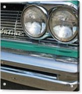 1961 Pontiac Catalina Grille With Headlights And Logo Acrylic Print