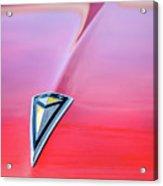 1961 Pontiac Catalina Hood Emblem Acrylic Print