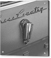 1961 Rambler Emblem B And W Acrylic Print