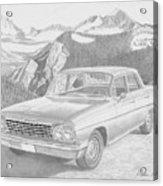 1962 Chevrolet Impala 4 Door Classic Car Art Print Acrylic Print