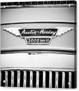 1963 Austin-healey 3000 Mk II Black And White Acrylic Print