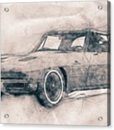 1963 Chevrolet Corvette Sting Ray - 1963 - Automotive Art - Car Posters Acrylic Print